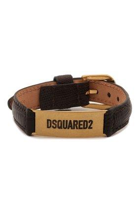 Мужской кожаный браслет DSQUARED2 темно-коричневого цвета, арт. ARM0120/01504295 | Фото 1