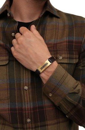 Мужской кожаный браслет DSQUARED2 темно-коричневого цвета, арт. ARM0120/01504295 | Фото 2