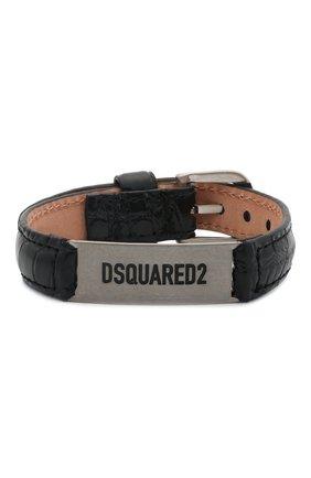 Мужской кожаный браслет DSQUARED2 черного цвета, арт. ARM0120/13880001 | Фото 1