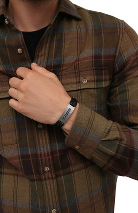 Мужской кожаный браслет DSQUARED2 черного цвета, арт. ARM0120/13880001 | Фото 2