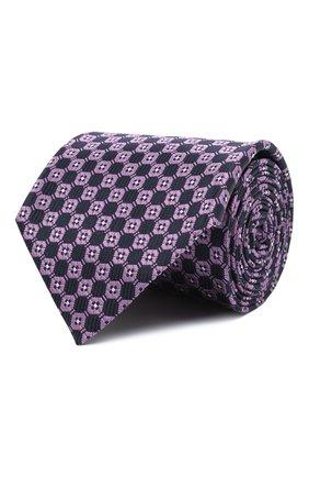 Мужской шелковый галстук ERMENEGILDO ZEGNA фиолетового цвета, арт. Z2D83T/1XW | Фото 1 (Материал: Текстиль, Шелк; Принт: С принтом)
