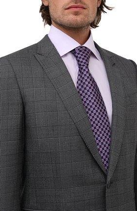 Мужской шелковый галстук ERMENEGILDO ZEGNA фиолетового цвета, арт. Z2D83T/1XW | Фото 2 (Материал: Текстиль, Шелк; Принт: С принтом)