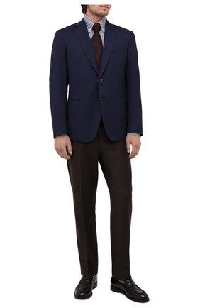Мужская хлопковая сорочка KITON разноцветного цвета, арт. UCIH0787408 | Фото 2 (Рукава: Длинные; Материал внешний: Хлопок; Длина (для топов): Стандартные; Случай: Формальный; Стили: Классический; Принт: Клетка; Воротник: Button down; Рубашки М: Regular Fit; Манжеты: На пуговицах)