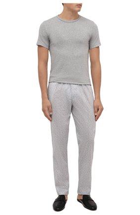 Мужская комплект из двух футболок POLO RALPH LAUREN серого цвета, арт. 714835960 | Фото 2 (Материал внешний: Хлопок; Кросс-КТ: домашняя одежда; Мужское Кросс-КТ: Футболка-белье; Рукава: Короткие; Длина (для топов): Стандартные)