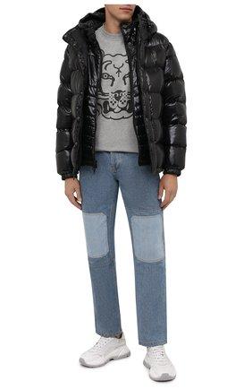 Мужская хлопковая футболка KENZO серого цвета, арт. FB65TS5224SA | Фото 2 (Рукава: Короткие; Материал внешний: Хлопок; Длина (для топов): Стандартные; Принт: С принтом; Стили: Кэжуэл)