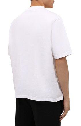 Мужская хлопковая футболка KENZO белого цвета, арт. FB65TS5224SA   Фото 4 (Рукава: Короткие; Длина (для топов): Стандартные; Принт: С принтом; Материал внешний: Хлопок; Стили: Кэжуэл)