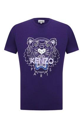 Мужская хлопковая футболка KENZO фиолетового цвета, арт. FB65TS0204YA   Фото 1
