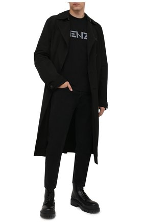 Мужская хлопковая футболка KENZO черного цвета, арт. FB65TS0004SA   Фото 2