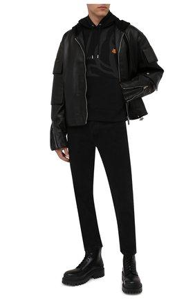 Мужской хлопковое худи kenzo x wwf KENZO черного цвета, арт. FB65SW3054M0 | Фото 2