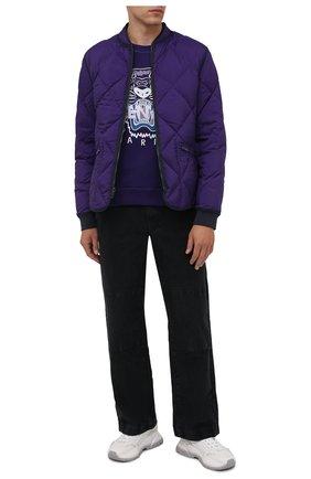 Мужской хлопковый свитшот KENZO фиолетового цвета, арт. FB65SW1234XA | Фото 2