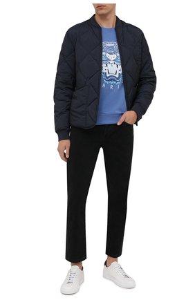 Мужской хлопковый свитшот KENZO синего цвета, арт. FB65SW1234XA | Фото 2