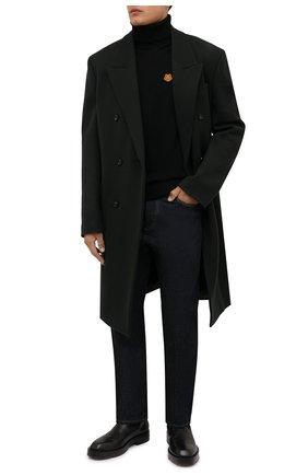 Мужской шерстяная водолазка KENZO черного цвета, арт. FB65PU6433TA | Фото 2