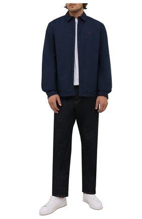Мужская куртка-рубашка KENZO темно-синего цвета, арт. FB65CH4609CD | Фото 2