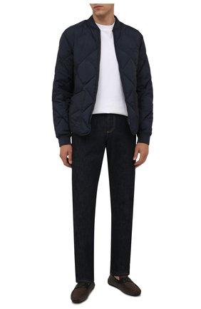 Мужские кожаные мокасины pavel BALLY коричневого цвета, арт. PAVEL-T/541 | Фото 2 (Материал внутренний: Натуральная кожа; Стили: Кэжуэл)