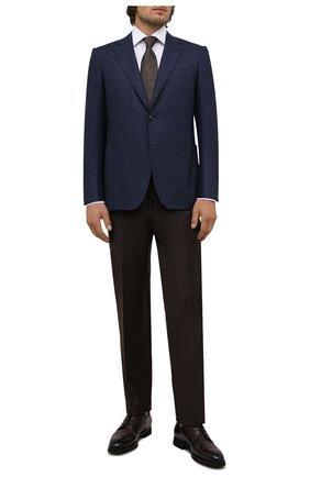 Мужские кожаные дерби BARRETT темно-коричневого цвета, арт. 192U042.39/BETIS CREAM | Фото 2 (Материал утеплителя: Натуральный мех; Стили: Классический; Мужское Кросс-КТ: Броги-обувь)