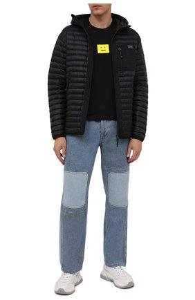 Мужская хлопковая футболка  ACNE STUDIOS черного цвета, арт. CL0101/M | Фото 2