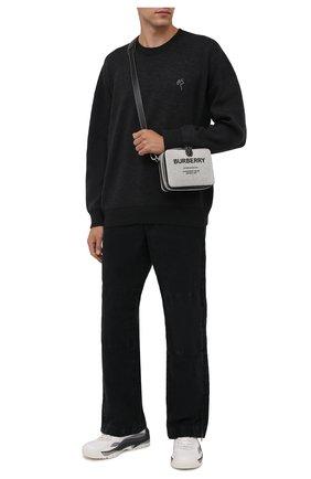 Мужской свитер из шерсти и хлопка ACNE STUDIOS темно-серого цвета, арт. B60177 | Фото 2