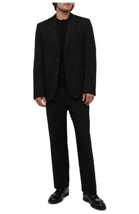 Мужские кожаные дерби michelangelo DOLCE & GABBANA черного цвета, арт. A10684/A1203 | Фото 2 (Материал внутренний: Натуральная кожа; Стили: Классический)
