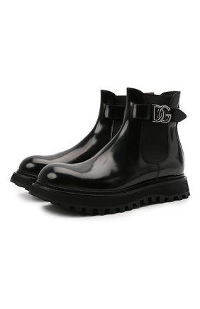 Мужские кожаные челси bernini DOLCE & GABBANA черного цвета, арт. A60371/A1203 | Фото 1 (Подошва: Массивная; Материал внутренний: Натуральная кожа; Мужское Кросс-КТ: Сапоги-обувь, Челси-обувь)