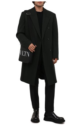 Мужские кожаные челси bernini DOLCE & GABBANA черного цвета, арт. A60371/A1203 | Фото 2 (Подошва: Массивная; Материал внутренний: Натуральная кожа; Мужское Кросс-КТ: Сапоги-обувь, Челси-обувь)