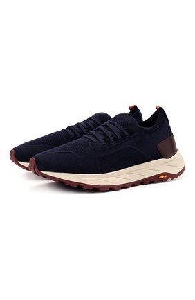 Мужские текстильные кроссовки H`D`S`N BARACCO темно-синего цвета, арт. ARES.AC.0* | Фото 1