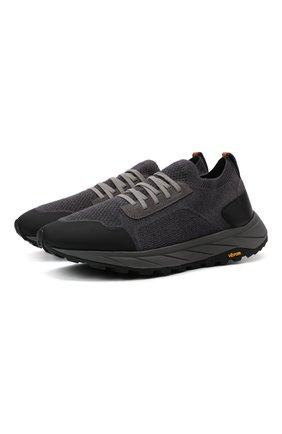 Мужские текстильные кроссовки H`D`S`N BARACCO серого цвета, арт. ARES.GN.1* | Фото 1