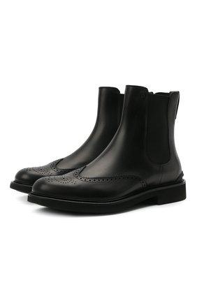 Мужские кожаные челси TOD'S черного цвета, арт. XXM06H00MH0D90 | Фото 1 (Подошва: Плоская; Материал внутренний: Натуральная кожа; Мужское Кросс-КТ: Сапоги-обувь, Челси-обувь)