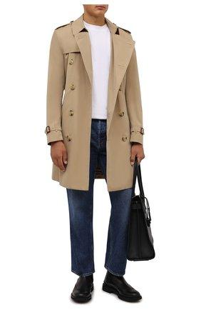 Мужские кожаные челси TOD'S черного цвета, арт. XXM06H00MH0D90 | Фото 2 (Подошва: Плоская; Материал внутренний: Натуральная кожа; Мужское Кросс-КТ: Сапоги-обувь, Челси-обувь)