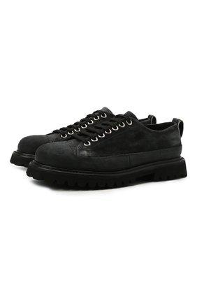 Мужские кожаные ботинки PREMIATA черного цвета, арт. 31914/BLED+N0BAR | Фото 1 (Подошва: Плоская; Материал внутренний: Натуральная кожа; Мужское Кросс-КТ: Ботинки-обувь; Материал внешний: Замша)