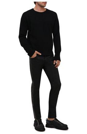 Мужские кожаные ботинки PREMIATA черного цвета, арт. 31914/BLED+N0BAR | Фото 2 (Подошва: Плоская; Материал внутренний: Натуральная кожа; Мужское Кросс-КТ: Ботинки-обувь; Материал внешний: Замша)