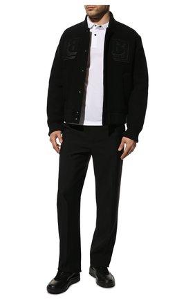 Мужские кожаные кроссовки gumboy VALENTINO черного цвета, арт. WY2S0B17/VRN   Фото 2 (Материал внутренний: Текстиль; Стили: Гранж; Подошва: Массивная)
