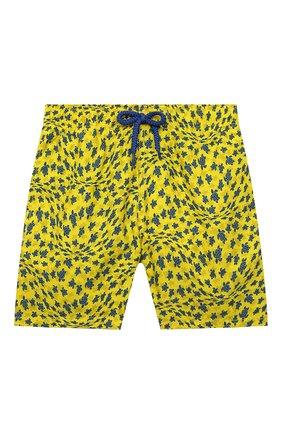 Детские плавки-шорты VILEBREQUIN желтого цвета, арт. JIMH1B20/105 | Фото 1