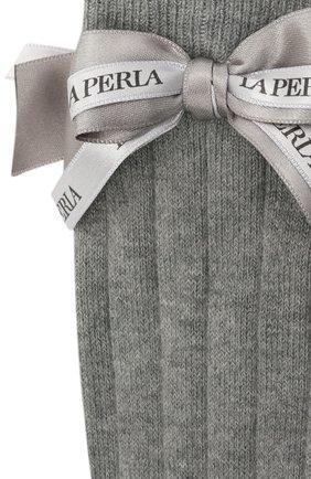 Детские хлопковые гольфы LA PERLA серого цвета, арт. 47738/1-2 | Фото 2 (Материал: Текстиль, Хлопок)