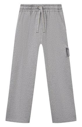 Детские хлопковые брюки DOLCE & GABBANA серого цвета, арт. L4JPDA/G7BDB/2-6   Фото 1
