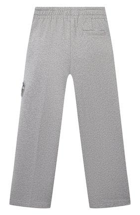 Детские хлопковые брюки DOLCE & GABBANA серого цвета, арт. L4JPDA/G7BDB/2-6   Фото 2
