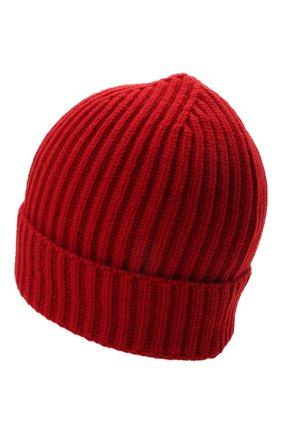 Детского шерстяная шапка DOLCE & GABBANA красного цвета, арт. LBKH69/JBVJ1 | Фото 2 (Материал: Шерсть)