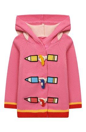 Детский хлопковый кардиган STELLA MCCARTNEY розового цвета, арт. 603522/SRM22 | Фото 1