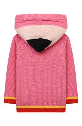 Детский хлопковый кардиган STELLA MCCARTNEY розового цвета, арт. 603522/SRM22 | Фото 2