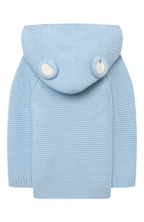 Детский хлопковый кардиган STELLA MCCARTNEY голубого цвета, арт. 603476/SRM10 | Фото 2 (Рукава: Длинные; Материал внешний: Хлопок)