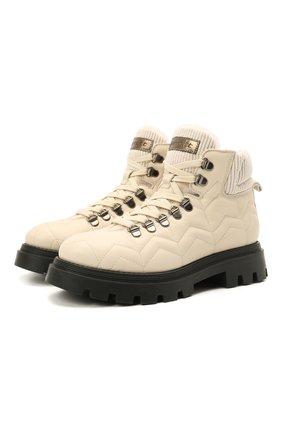 Детские кожаные ботинки JARRETT кремвого цвета, арт. JE3TR13A/SAVANA NEXT/35-40 | Фото 1 (Материал утеплителя: Натуральный мех)
