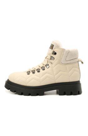 Детские кожаные ботинки JARRETT кремвого цвета, арт. JE3TR13A/SAVANA NEXT/35-40 | Фото 2 (Материал утеплителя: Натуральный мех)