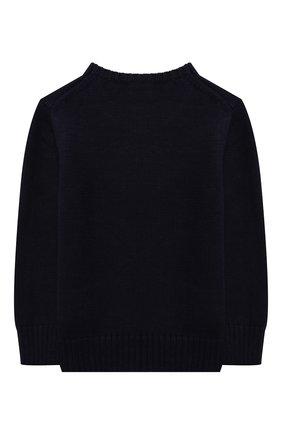 Детский хлопковый пуловер POLO RALPH LAUREN синего цвета, арт. 321850996 | Фото 2 (Материал внешний: Хлопок; Рукава: Длинные; Мальчики Кросс-КТ: Пуловер-одежда; Ростовка одежда: 18 мес | 86 см, 3 года | 98 см, 4 года | 104 см)