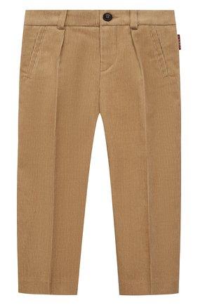 Детские хлопковые брюки GUCCI бежевого цвета, арт. 653794/XWAP0   Фото 1