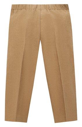 Детские хлопковые брюки GUCCI бежевого цвета, арт. 653794/XWAP0   Фото 2