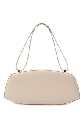 Женская сумка taos small JIL SANDER белого цвета, арт. JSPT852602-WTB00080N   Фото 1 (Материал: Натуральная кожа; Сумки-технические: Сумки top-handle, Сумки через плечо; Размер: small)