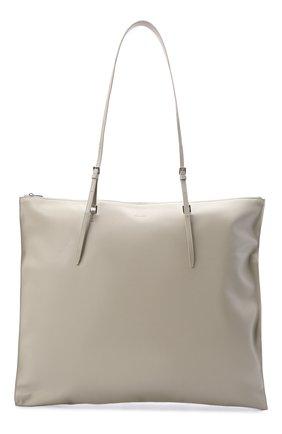 Женский сумка holster JIL SANDER светло-серого цвета, арт. JSPT852585-WTB00103   Фото 1 (Размер: large; Материал: Натуральная кожа; Сумки-технические: Сумки-шопперы)