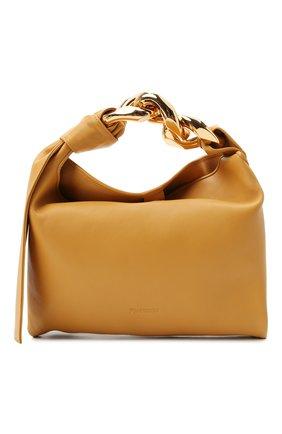 Женская сумка chain hobo small JW ANDERSON желтого цвета, арт. HB0400 LA0019   Фото 1 (Материал: Натуральная кожа; Размер: small; Сумки-технические: Сумки top-handle)