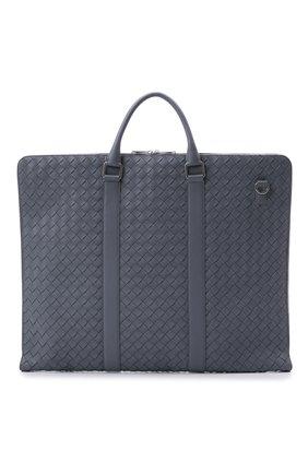 Мужская кожаный кофр BOTTEGA VENETA серого цвета, арт. 669369/V0E51   Фото 1