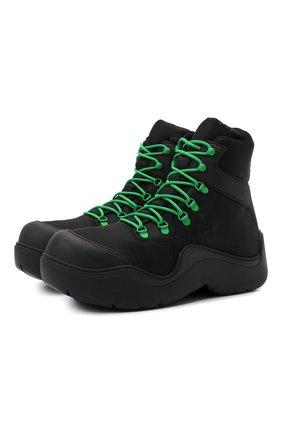Мужские текстильные ботинки puddle bomber BOTTEGA VENETA черного цвета, арт. 667064/VBSD7 | Фото 1 (Материал внутренний: Текстиль; Материал внешний: Текстиль; Подошва: Массивная; Мужское Кросс-КТ: Ботинки-обувь)