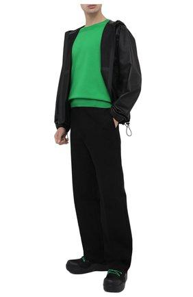Мужские текстильные ботинки puddle bomber BOTTEGA VENETA черного цвета, арт. 667064/VBSD7 | Фото 2 (Материал внутренний: Текстиль; Материал внешний: Текстиль; Подошва: Массивная; Мужское Кросс-КТ: Ботинки-обувь)
